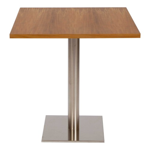 PR Home Canteen Table 70cm Square - Natural